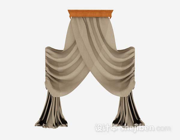 棕色纱质窗帘