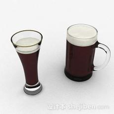 玻璃啤酒杯3d模型下载