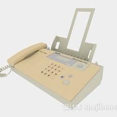 黄色传真机3d模型下载