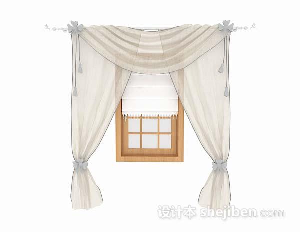 米灰色纱质窗帘