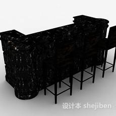 现代大理石吧台3d模型下载
