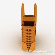 姜黄色手提包3d模型下载
