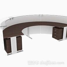 简单前台桌3d模型下载