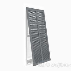 家居简约灰色窗户3d模型下载