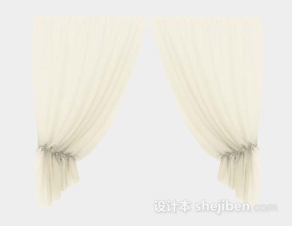 米黄色纱质窗帘