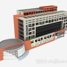 简约办公楼3d模型下载