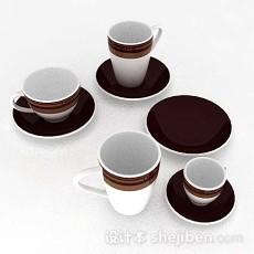 棕色简约杯具套3d模型下载