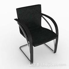 现代黑色休闲椅子3d模型下载