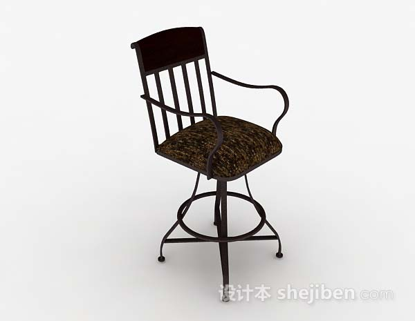 欧式棕色休闲椅
