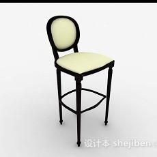 休闲黄色高脚椅3d模型下载