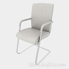 现代简约白色休闲椅子3d模型下载