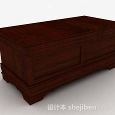 棕色木质班台3d模型下载
