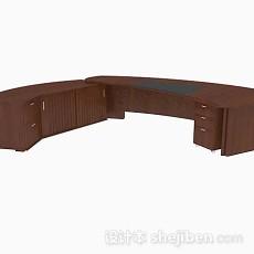 木质高档大班台3d模型下载