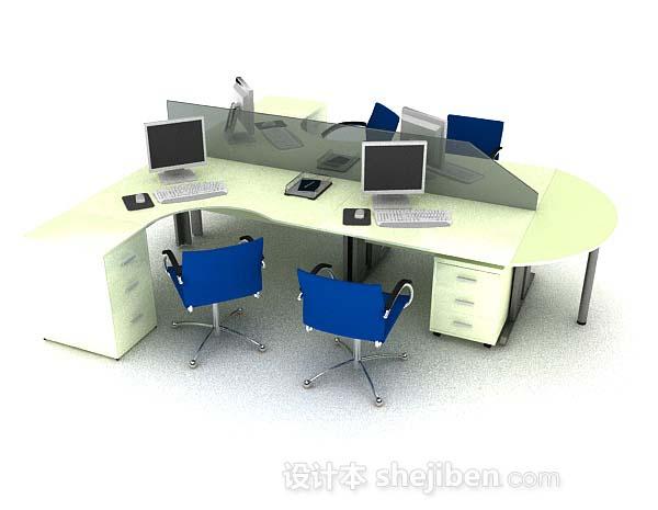 现代简约办公桌椅组合