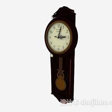 立式大钟表3d模型下载