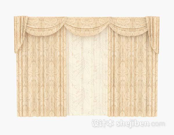 欧式暖黄色窗帘