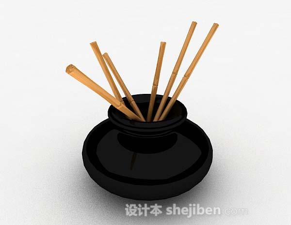 中式毛笔筒