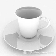 白色咖啡杯子3d模型下载