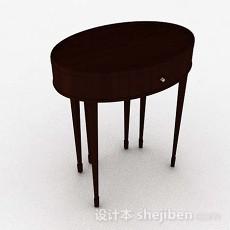 椭圆形木质桌子3d模型下载