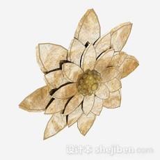 莲花装饰品3d模型下载