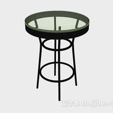休闲圆桌3d模型下载