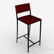 休闲高脚椅子3d模型下载