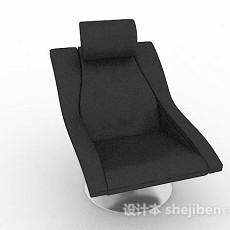 现代简约黑色休闲椅3d模型下载