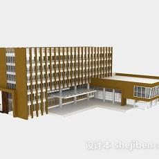 简约教学楼3d模型下载