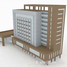 现代简约办公楼3d模型下载