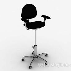 黑色休闲高脚椅3d模型下载
