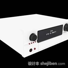 现代白色DVD机3d模型下载
