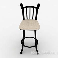 木质简单吧椅3d模型下载