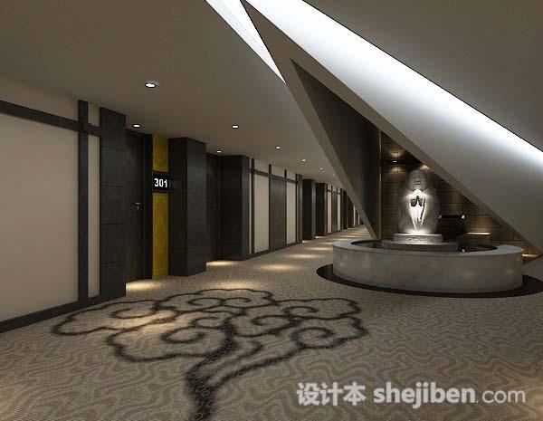 宾馆长走廊3d模型