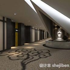 宾馆长走廊3d模型下载