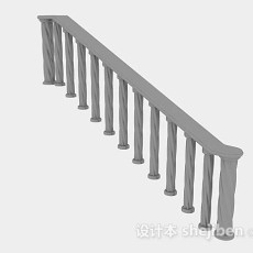 灰色栏杆3d模型下载