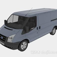 灰蓝色汽车3d模型下载