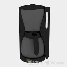 黑色咖啡机3d模型下载