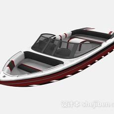 红色快艇3d模型下载