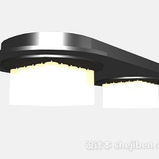 黄色吸顶灯3d模型下载