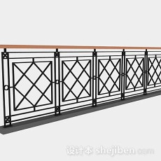 黑色栏杆3d模型下载