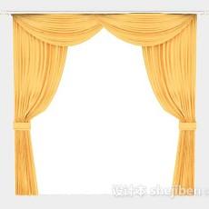 黄色家居窗帘3d模型下载