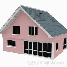 粉色小木屋3d模型下载
