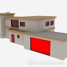 简单居民房屋3d模型下载
