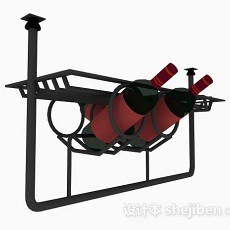 红酒架3d模型下载