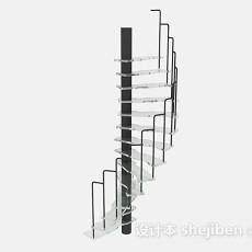 灰色楼梯3d模型下载
