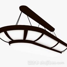 棕色吸顶灯3d模型下载