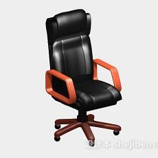 高档黑色办公椅3d模型下载