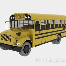 美式学校巴士3d模型下载