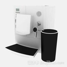 白色咖啡机3d模型下载