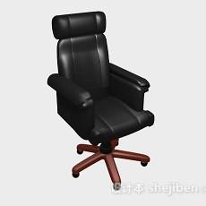 黑色高档办公椅3d模型下载